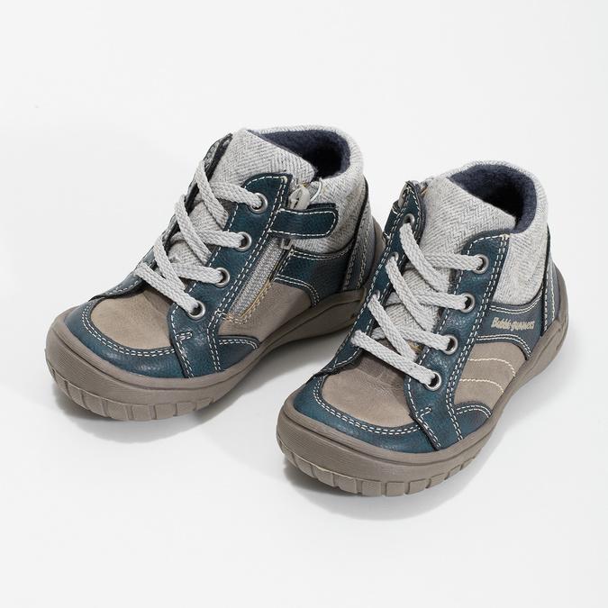 Dětská kotníčková obuv s teplou podšívkou bubblegummers, šedá, 111-2627 - 16