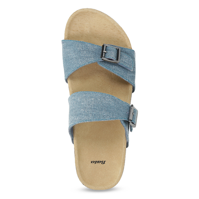 Dámské korkové pantofle modré bata, modrá, 579-9625 - 17