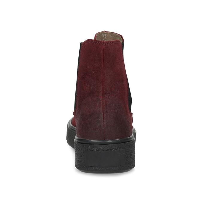 Kožená vínová dámská Chelsea obuv bata, červená, 596-5713 - 15