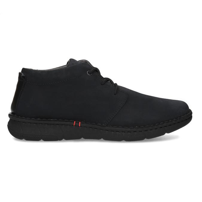 Pánská kotníčková obuv z broušené kůže bata, černá, 846-6716 - 19