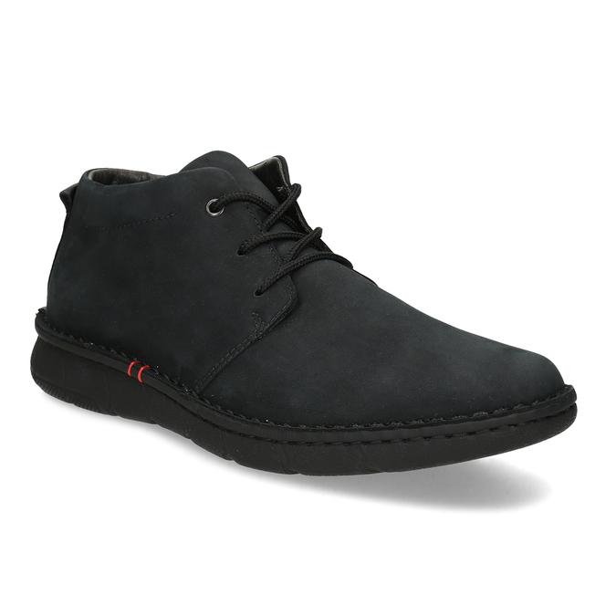 Pánská kotníčková obuv z broušené kůže bata, černá, 846-6716 - 13