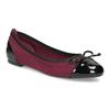Vínové baleríny s lakovanou špicí a patou bata, červená, 529-5640 - 13