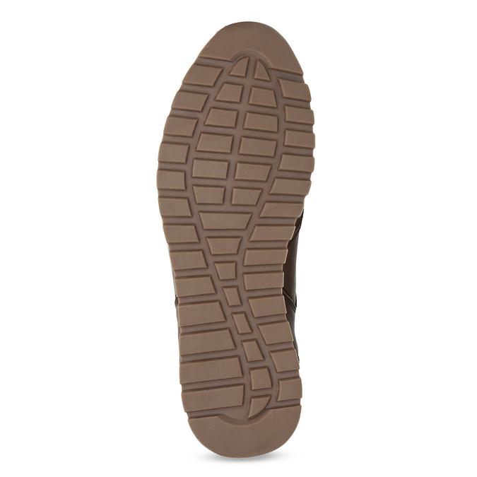 Hnědé pánské kožené tenisky se zateplením bata, hnědá, 846-4646 - 18