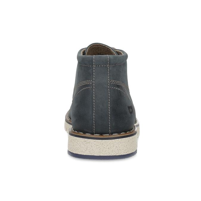 Pánská kožená kotníčková modrá obuv weinbrenner, modrá, 846-9658 - 15