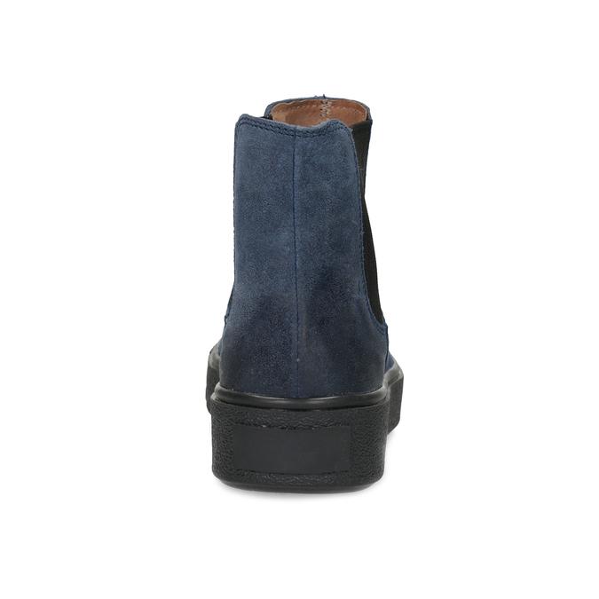 Modrá dámská kožená Chelsea obuv bata, modrá, 596-9713 - 15