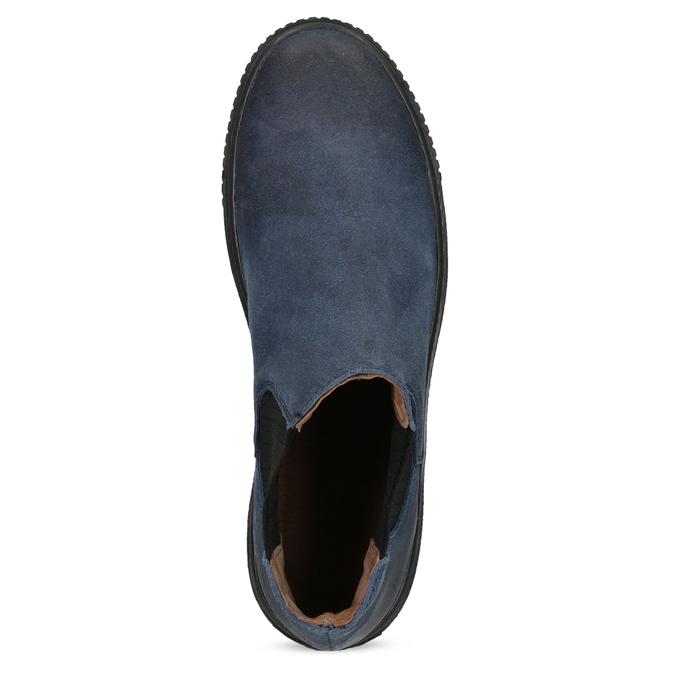 Modrá dámská kožená Chelsea obuv bata, modrá, 596-9713 - 17