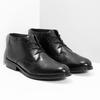 Kožená pánská kotníčková obuv bata, černá, 824-6893 - 26
