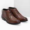 Pánská kožená kotníčková obuv bata, hnědá, 826-3893 - 26