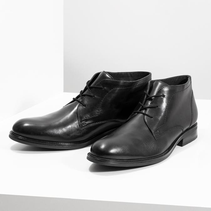 Kožená pánská kotníčková obuv bata, černá, 824-6893 - 16