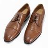 Hnědé kožené pánské polobotky bata, hnědá, 826-3406 - 16