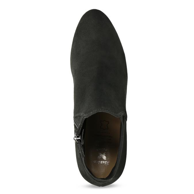 Šedá dámská kotníčková obuv s elastickou patou bata, šedá, 799-2625 - 17
