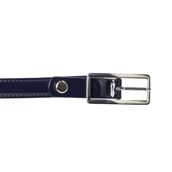 Modrý dámský opasek se sponou bata, modrá, 951-9605 - 26