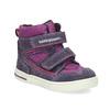 Kotníkové dětské boty s teplou podšívkou bubblegummers, fialová, 123-5610 - 13