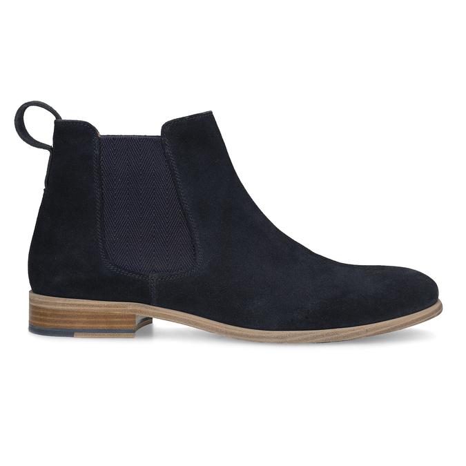 Tmavě modrá kožená pánská Chelsea obuv bata, modrá, 823-9614 - 19