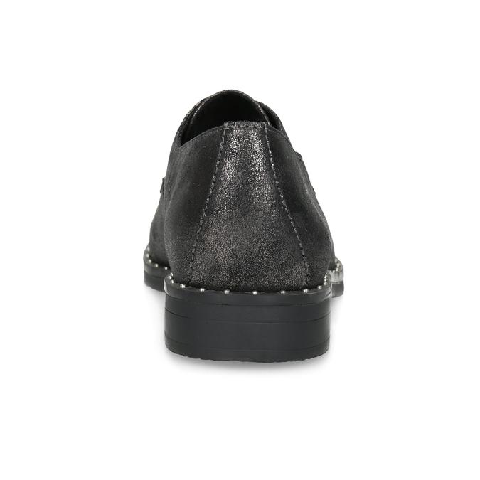 Dámské ležérní polobotky s kamínky bata, stříbrná, 529-1638 - 15