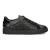 Černé dámské tenisky s kamínky bata-light, černá, 549-6611 - 19