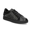 Černé dámské tenisky s kamínky bata-light, černá, 549-6611 - 13