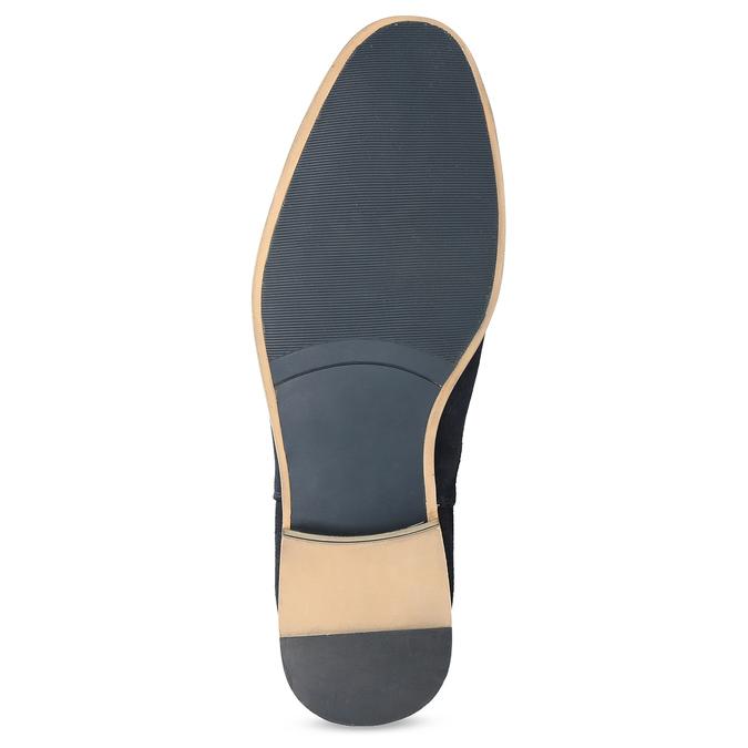 Tmavě modrá kožená pánská Chelsea obuv bata, modrá, 823-9614 - 18