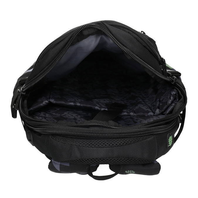 Školní batoh černý bagmaster, zelená, 969-7718 - 15