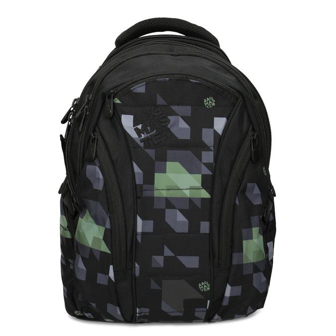Školní batoh černý bagmaster, zelená, 969-7718 - 26