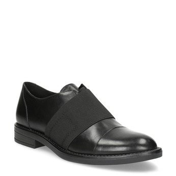 Kožené dámské polobotky s elastickým pruhem bata, černá, 514-6602 - 13