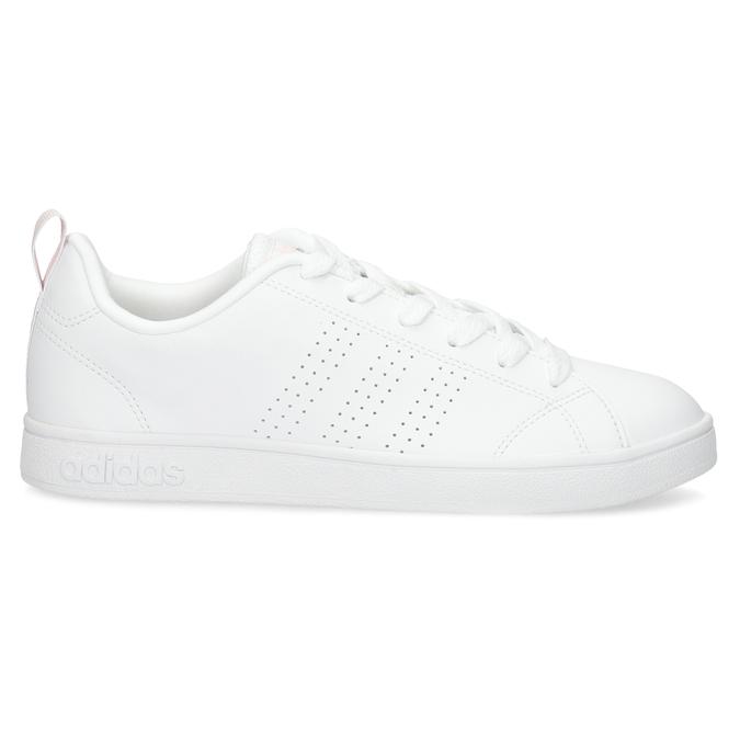 Bílé dámské tenisky s perforací adidas, bílá, 501-1800 - 19