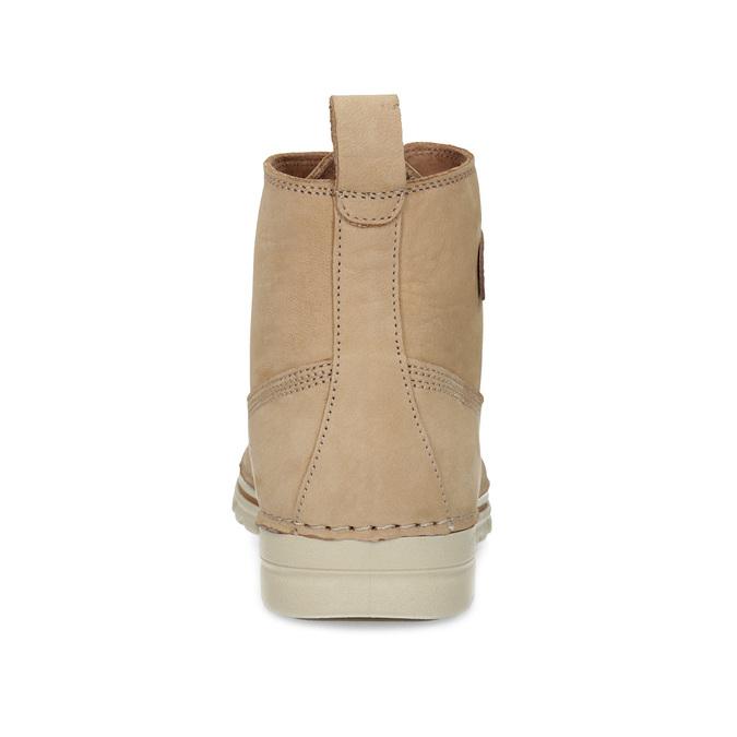 Dámská kotníčková obuv z broušené kůže weinbrenner, hnědá, 594-4323 - 15