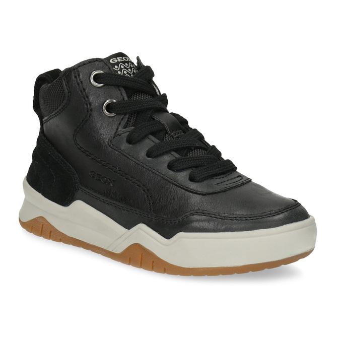 Kožená kotníčková obuv chlapecká geox, černá, 326-6007 - 13