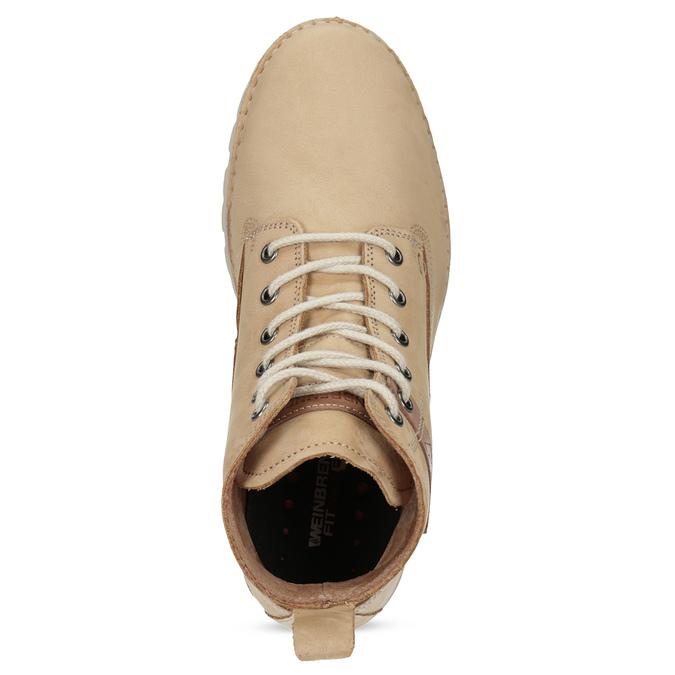 Dámská kotníčková obuv z broušené kůže weinbrenner, hnědá, 594-4323 - 17