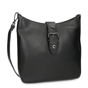 Černá dámská kabelka s přezkou bata, černá, 961-6870 - 13