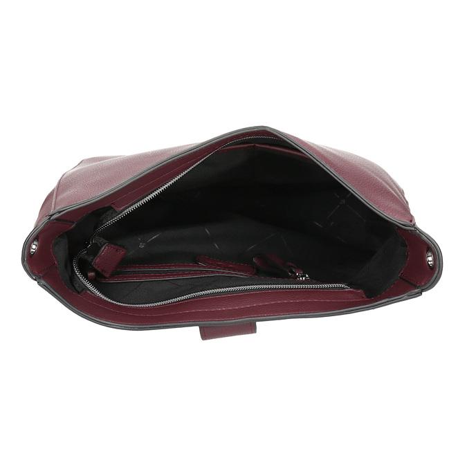 Dámská vínová kabelka s přezkou bata, červená, 961-5870 - 15