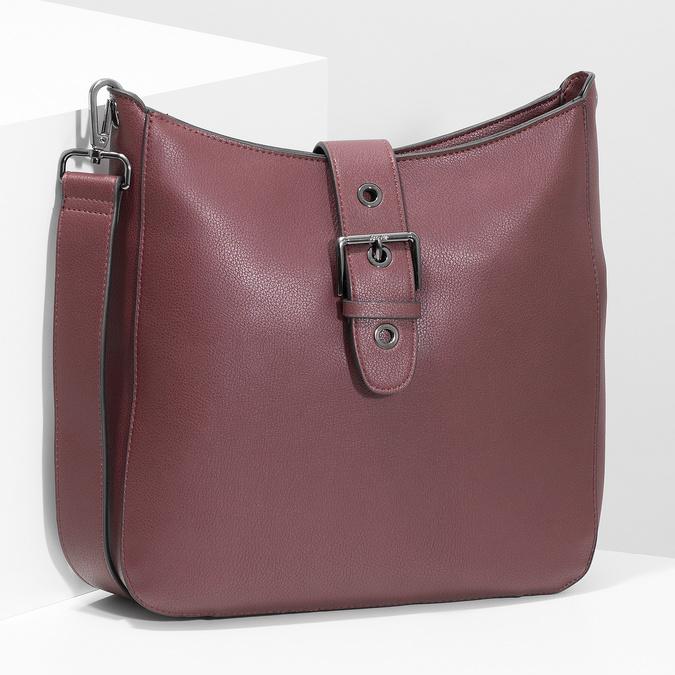 Dámská vínová kabelka s přezkou bata, červená, 961-5870 - 17