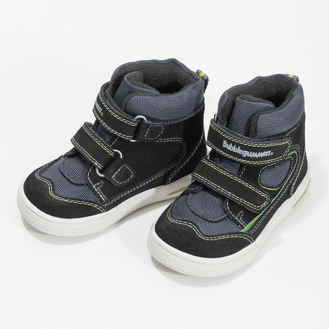 Kotníčková dětská obuv na suché zipy bubblegummers, modrá, 113-9610 - 16