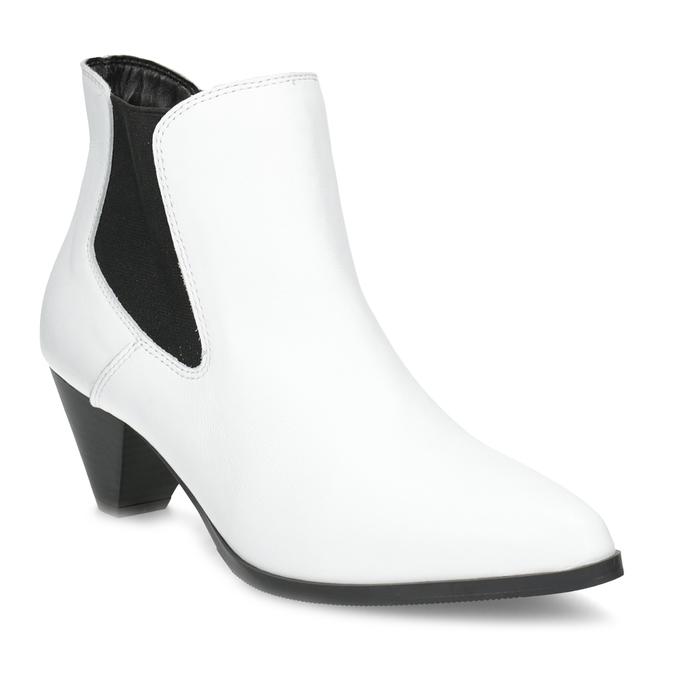 Bílá kožená obuv ve stylu Chelsea Boots bata, bílá, 696-1661 - 13