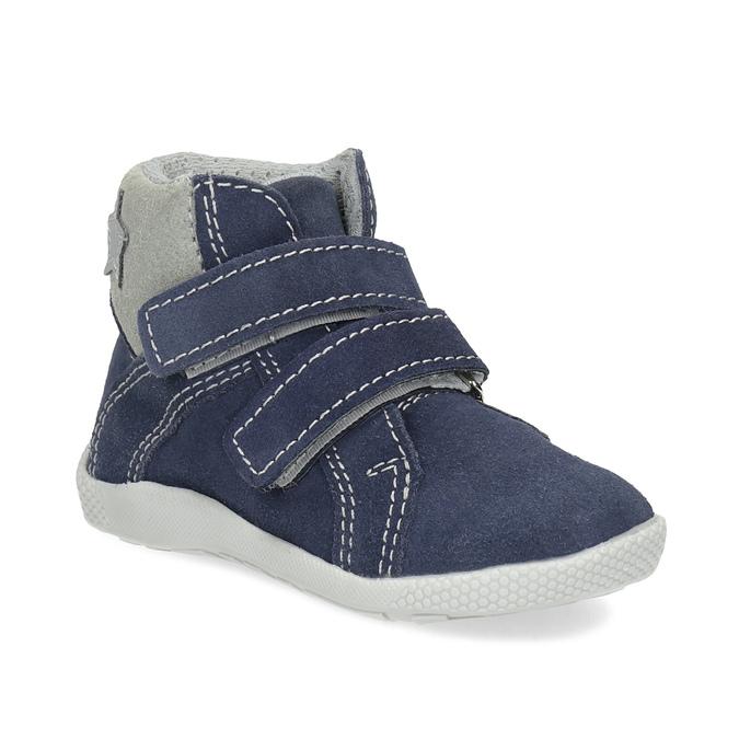 Dětská kožená kotníčková obuv bubblegummers, modrá, 113-9612 - 13