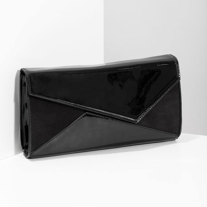 Černé asymetrické psaníčko bata, černá, 961-6912 - 17