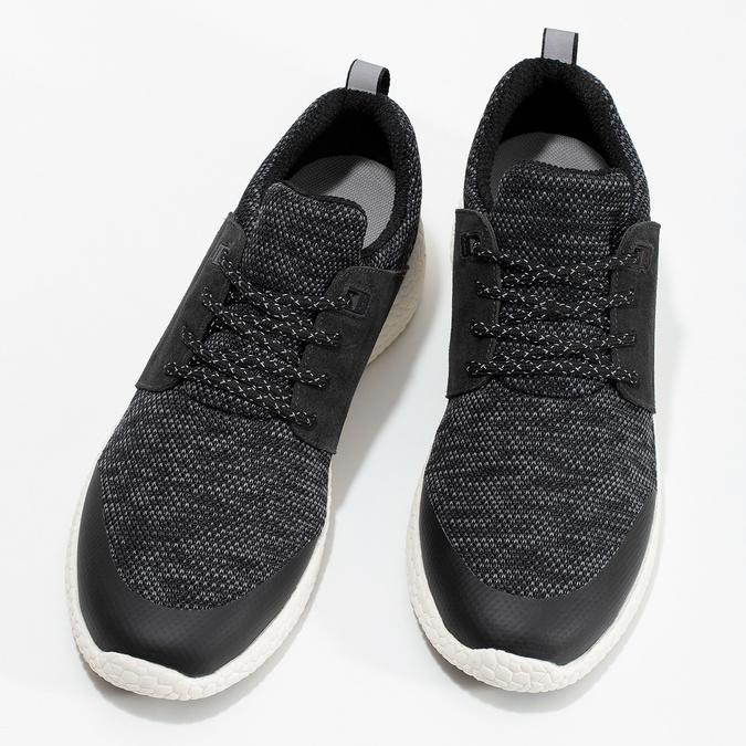 Pánské sportovní tenisky černé bata-light, šedá, 849-2634 - 16