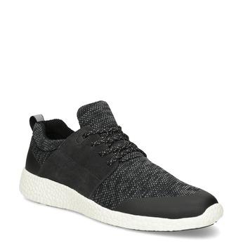 Pánské sportovní tenisky černé bata-light, šedá, 849-2634 - 13