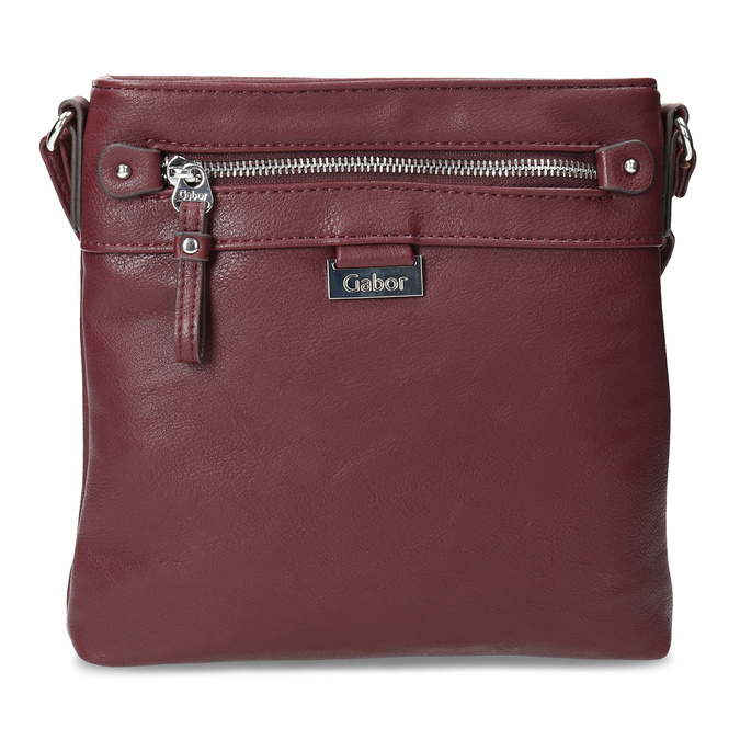 Vínová dámská crossbody kabelka gabor-bags, červená, 961-5023 - 26