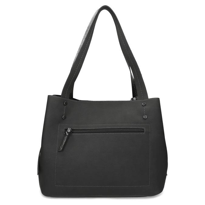 Černá kabelka s metalickými detaily gabor-bags, černá, 961-6069 - 16