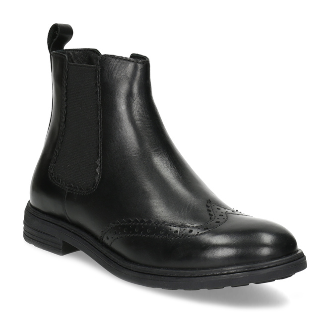 Dětská kožená Chelsea obuv mini-b, černá, 394-6425 - 13