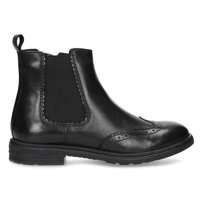 Dětská kožená Chelsea obuv mini-b, černá, 394-6425 - 19