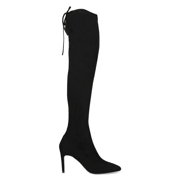 Černé dámské kozačky nad kolena bata, černá, 799-6621 - 19