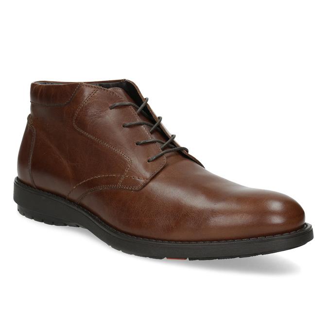 Kotníčková kožená pánská obuv hnědá flexible, hnědá, 896-4707 - 13