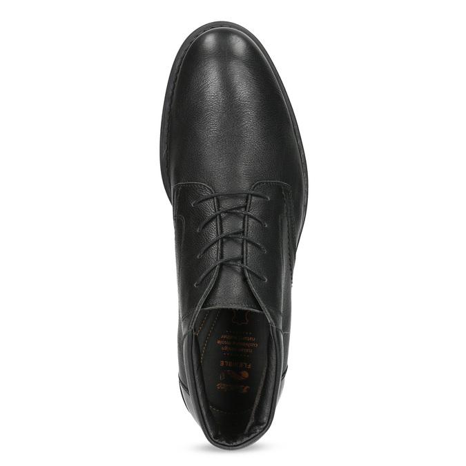 Kotníčková kožená pánská obuv černá flexible, černá, 894-6704 - 17
