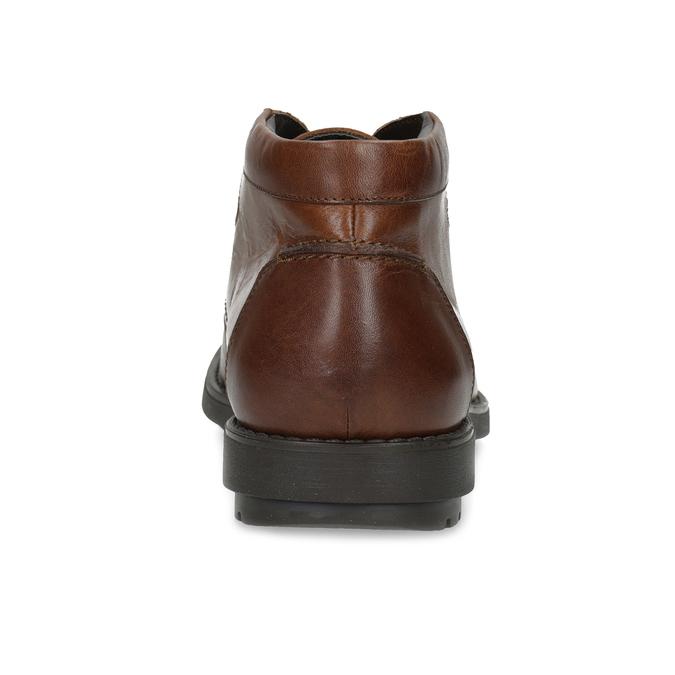 Kotníčková kožená pánská obuv hnědá flexible, hnědá, 896-4707 - 15