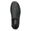 Kožená pánská Slip-on obuv s prošitím, černá, 816-6011 - 17
