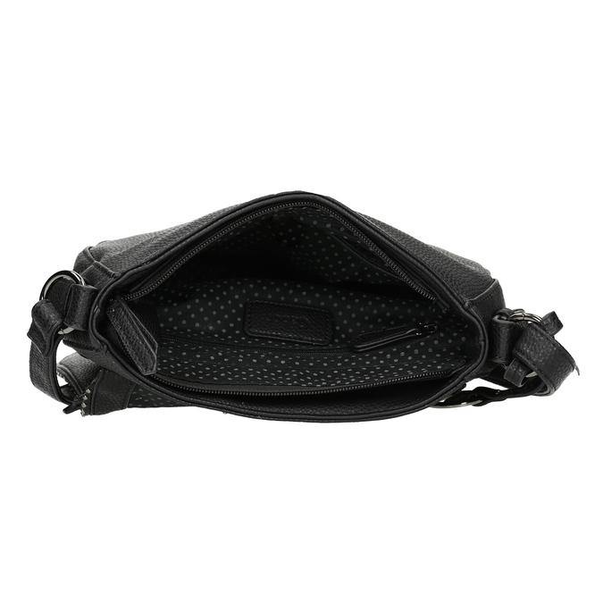 Černá crossbody kabelka s kamínky gabor-bags, černá, 961-6074 - 15