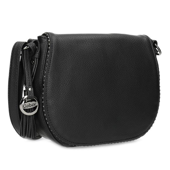 Černá crossbody kabelka s kamínky gabor-bags, černá, 961-6074 - 13