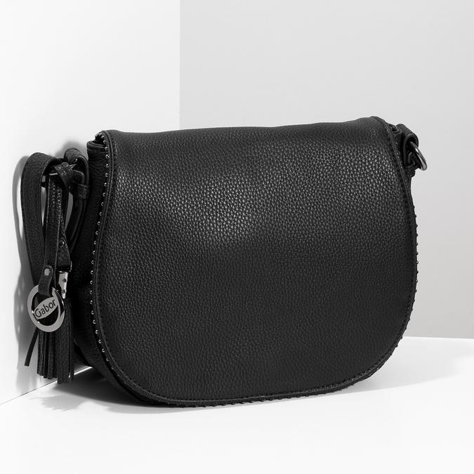 Černá crossbody kabelka s kamínky gabor-bags, černá, 961-6074 - 17